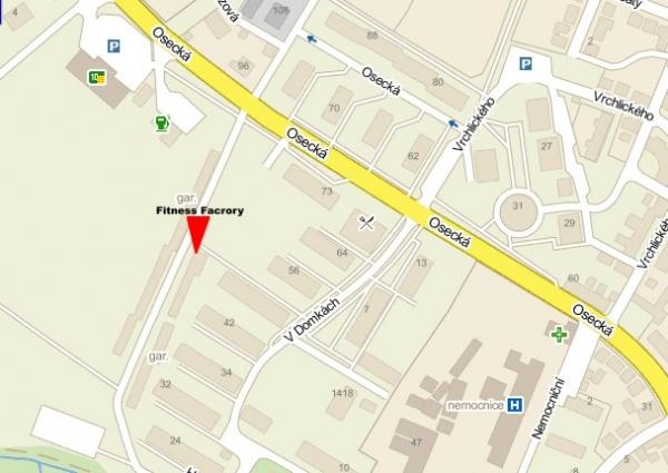 Mapa Factory Fitcentrum Duchcov